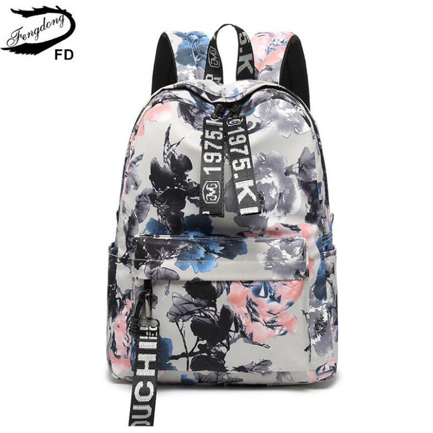 9862067bf5a1 Fengdong Women Chinese Painting Vintage Backpack Girl Gift Children School  Bags Kids School Backpack Schoolbag For Girls Bookbag Y18120601 Backpacks  Lowest ...
