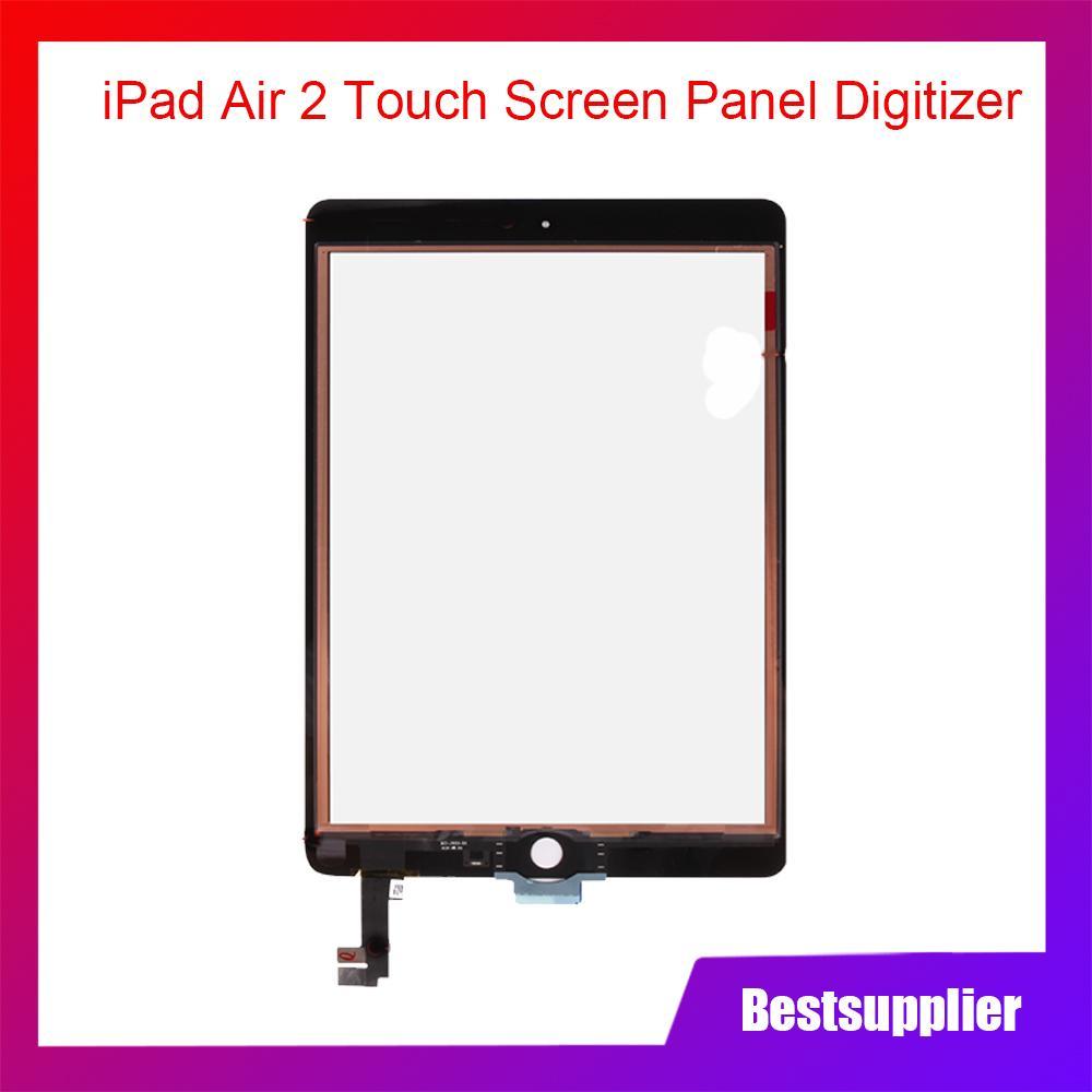 Pour iPad 6Air 2Numériseur écran tactile vitre avant en verre noir autocollant A1566A1567 Pièces de remplacement