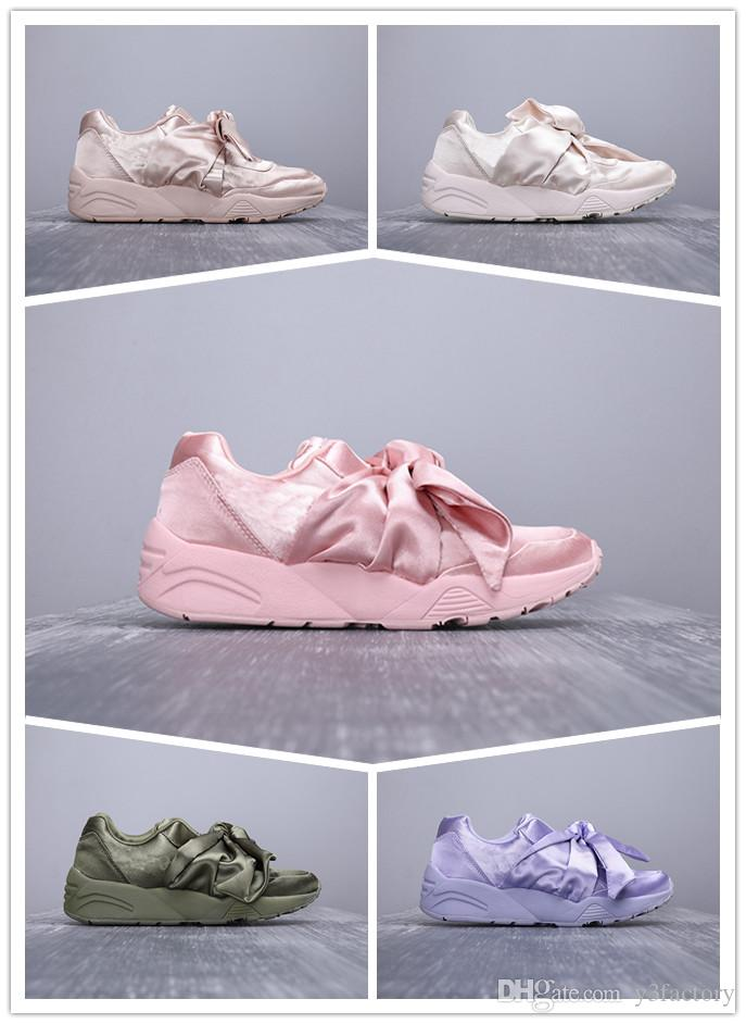 finest selection e4509 0817e Free Shipping Bow Tie Rihanna Casual Shoes Basket Heart Satin Black White  And Pink Board Shoes Silk Banded Bow Goddess Shoes 36-40