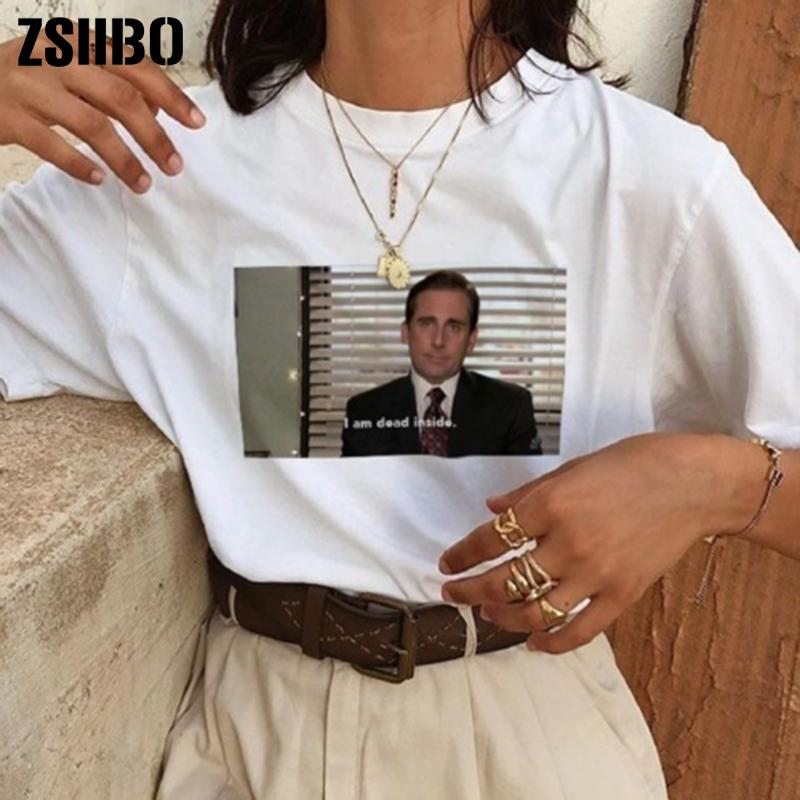 86bcc726 2019 I Am Dead Inside Quotes Funny T Shirt The Office Michael Scott T Shirt  Unisex Tumblr Grunge Fashion White Tee Dro From Queen_shop1, $4.29 |  DHgate.Com