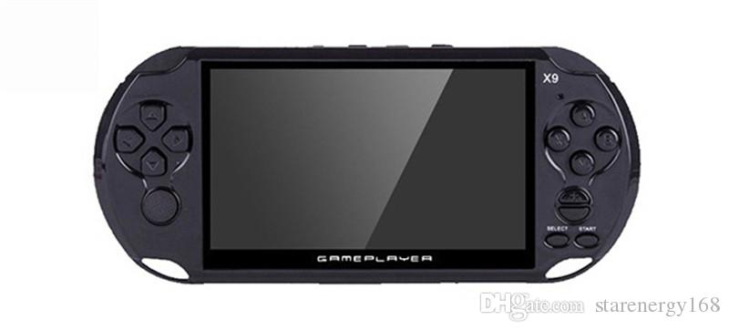 X9 Handheld Game Player 5 Zoll Großbild tragbare Spielekonsole MP4-Player mit Kamera TV Out TF Video für GBA FC Spiel versandkostenfrei