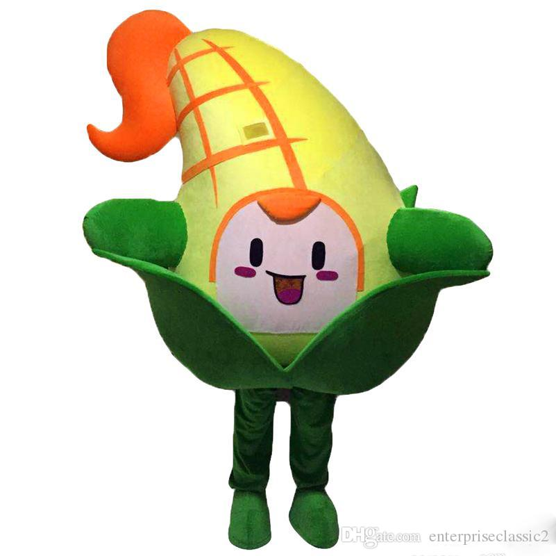 2019 NEW Corn Mascot Costume Cartoon Real Photo