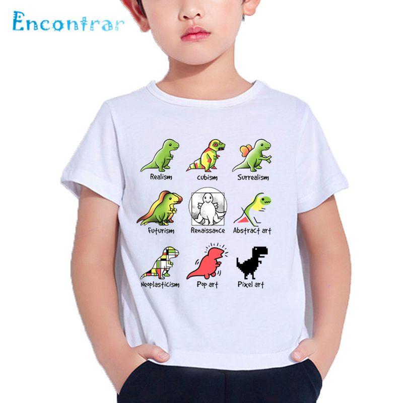 59a089b91 2019 Kids Interesting Dinosaur Ride Motorcycle Print T Shirt Boys ...