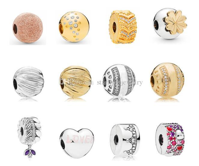 2019 spring clip beads collection Fits for Pandora Bracelets & Necklace 925 sterling silver beads diy charms loose beads fashion jewelry