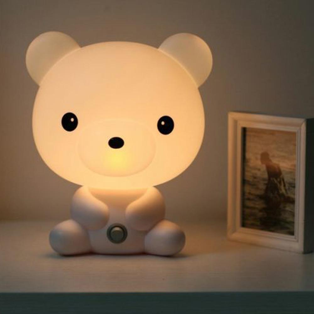 Décor Lapin Mignon Maison Chevet Cadeau Ac220v La Panda À Enfant Ambiance Lampes Chien Animé Nuit Sommeil Plug Ours De Lumière Dessin nvym0wON8P