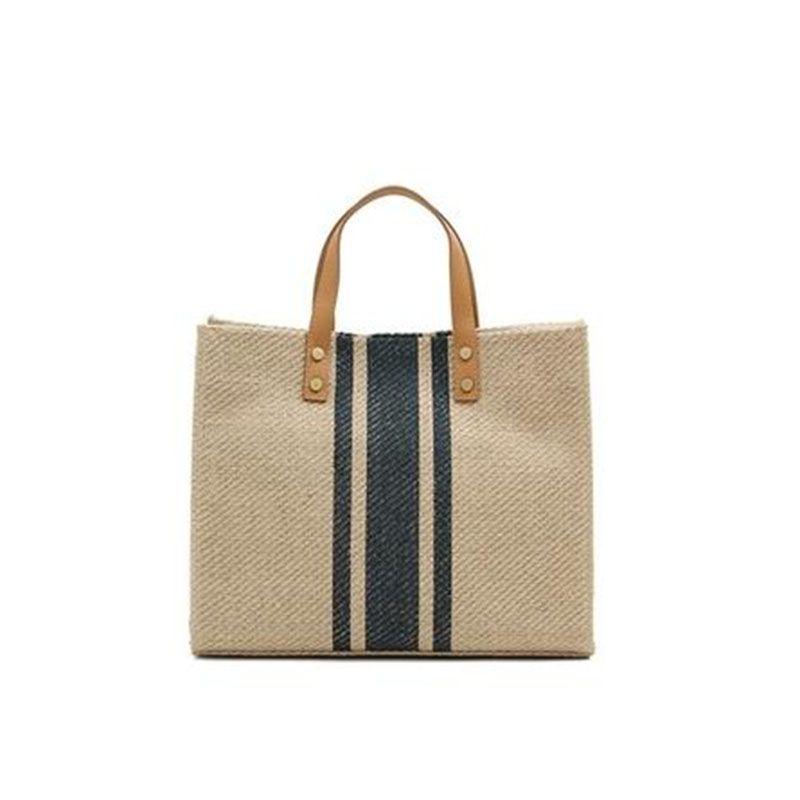 ff7c5cbca Large Shopper Bag Jumbo Canvas Totes Beach Bag Big Shoulder Bag Summer  Striped Casual Totes 2019 Brand Drop Shipping J409 Bags Shop Custom  Reusable Bags ...