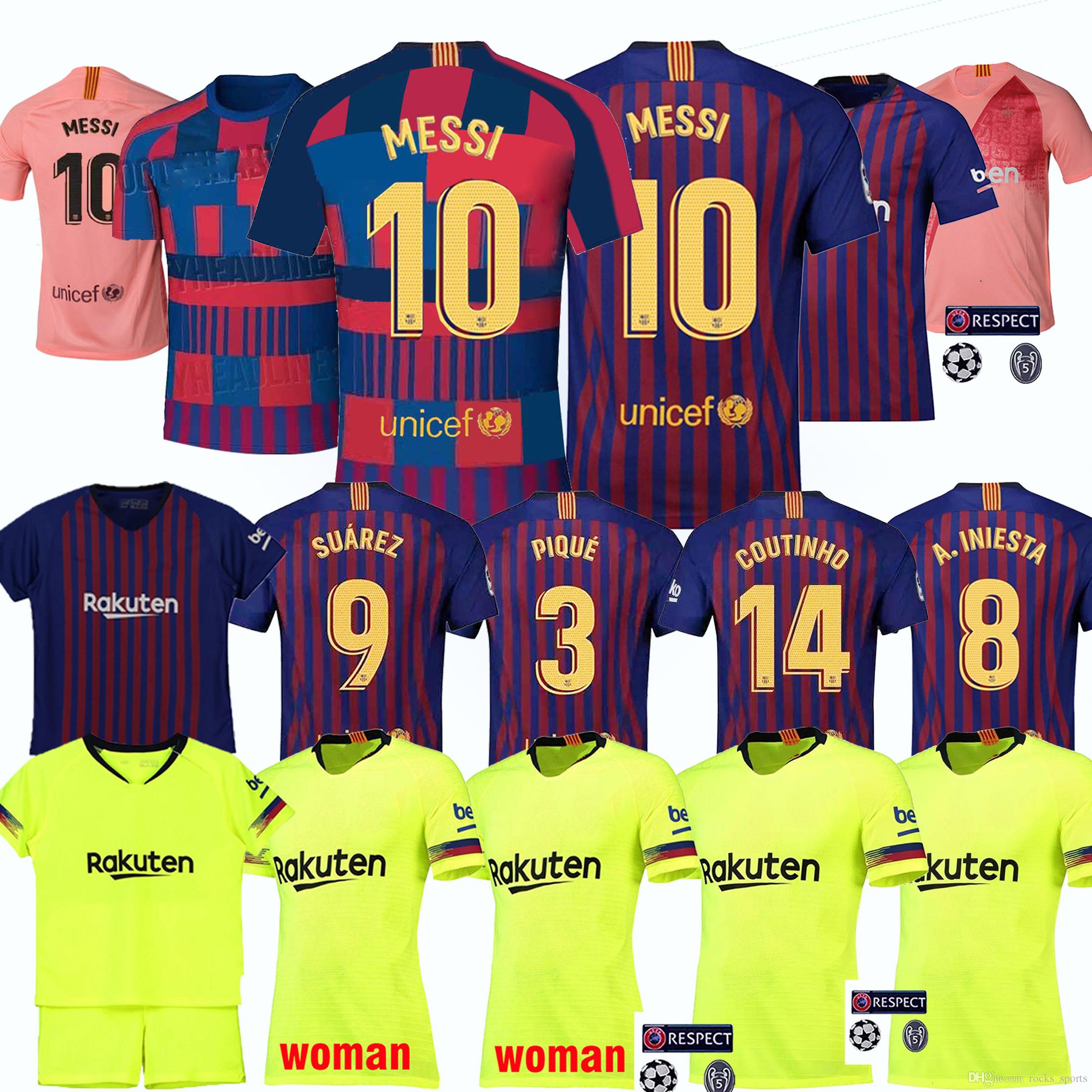 2019 2019 Thailand Production Messi Barcelona Football Clothing