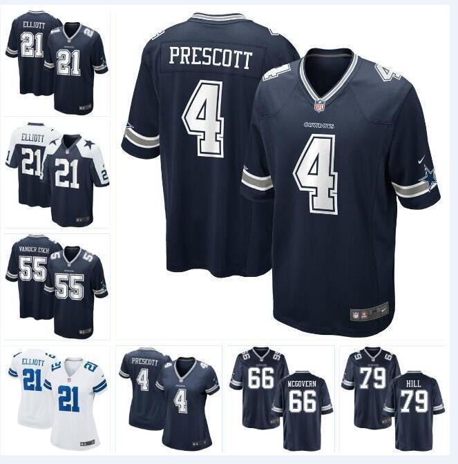 the latest 6cf75 148dd Dallas Dak Prescott Cowboys Jersey Ezekiel Elliott Jason Witten Tony  Pollard Michael Jackson custom american football jerseys new white 4xl