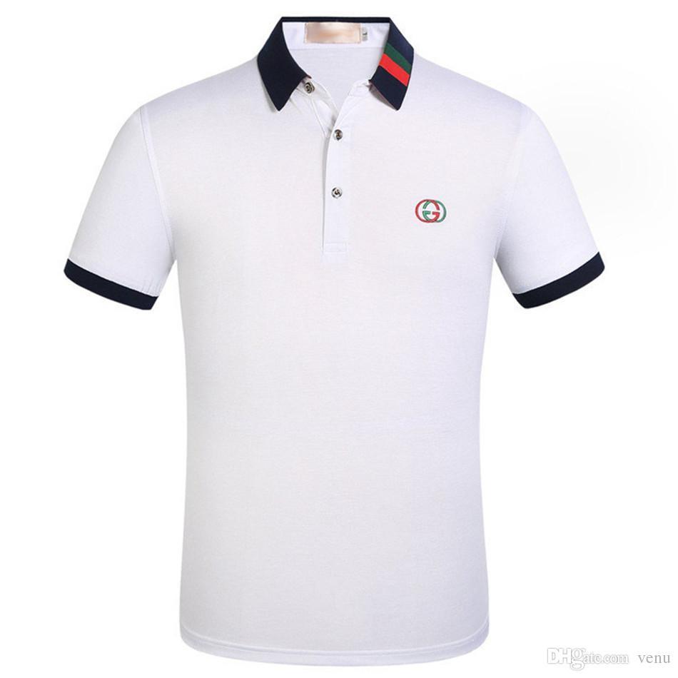New Brand Polos Mens Polo Shirts Cotton Short Sleeve Polo Casual