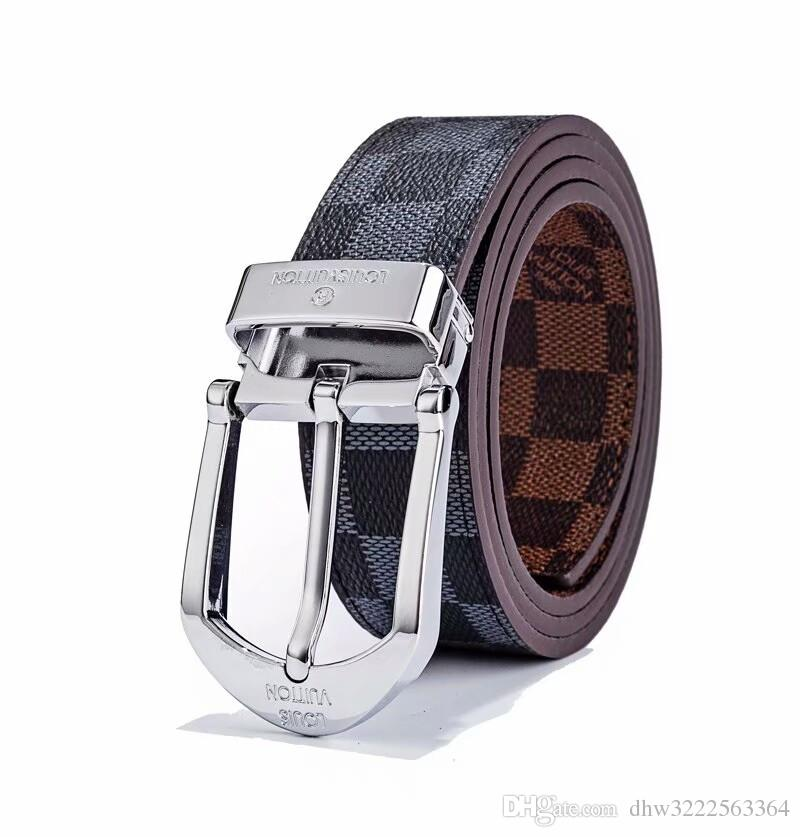 8db49a8f545 2018 Luxury Brand famous Designer Belts Men High Quality Male genuine  leather Business Casual L Buckle belt