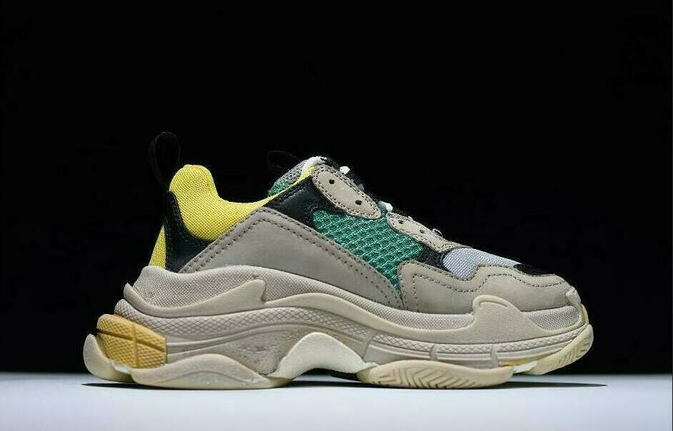 Green Most Comfortable High T Casual Shoes Dad Shoe Triple S