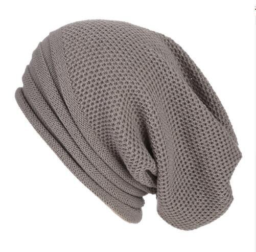 35fd094b4a6 Men Women Baggy Warm Crochet Winter Wool Knit Ski Beanie Skull ...