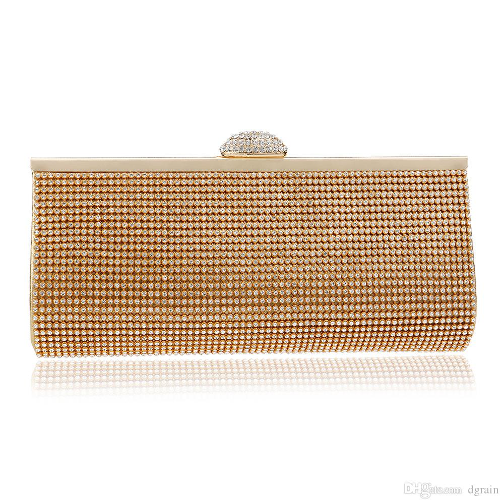 Dgrain Vintage Gold Beaded Women Fashion Girl Clutch Bag Handbags Wedding  Dinner Bridal Beading Evening Clutches Purse Leather Bags Shoulder Bags From  ... 9904a7a8a386