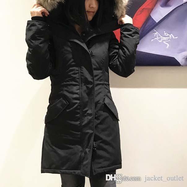 a0aa1d488 New Winter Down CLAIR Parka Women Brand Designer Long Jackets Hoodies  Outwear Female Parkas Outdoor Warm 28 Coats Online