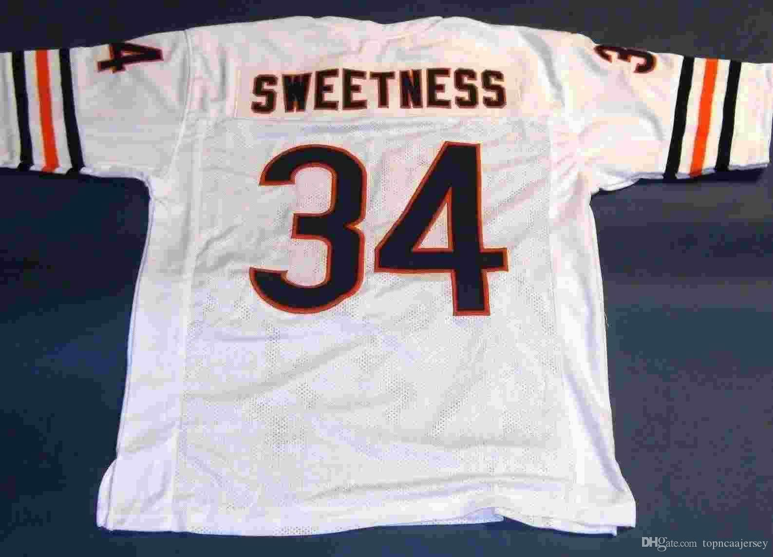 quality design 7b609 cea1f Cheap retro #34 WALTER PAYTON CUSTOM MITCHELL & NESS Jersey SWEETNESS white  Mens Stitching High-end Size S-5XL Football Jerseys College NCAA