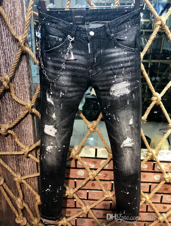 8617c538f7ae6e Acquista 2019 Popolare Denim Coolguy Jeans Uomo Casual Pantaloni Holes  Jeans Pantaloni Button D2 Pantaloni Lunghi 9603 A $40.61 Dal Long721 |  DHgate.Com