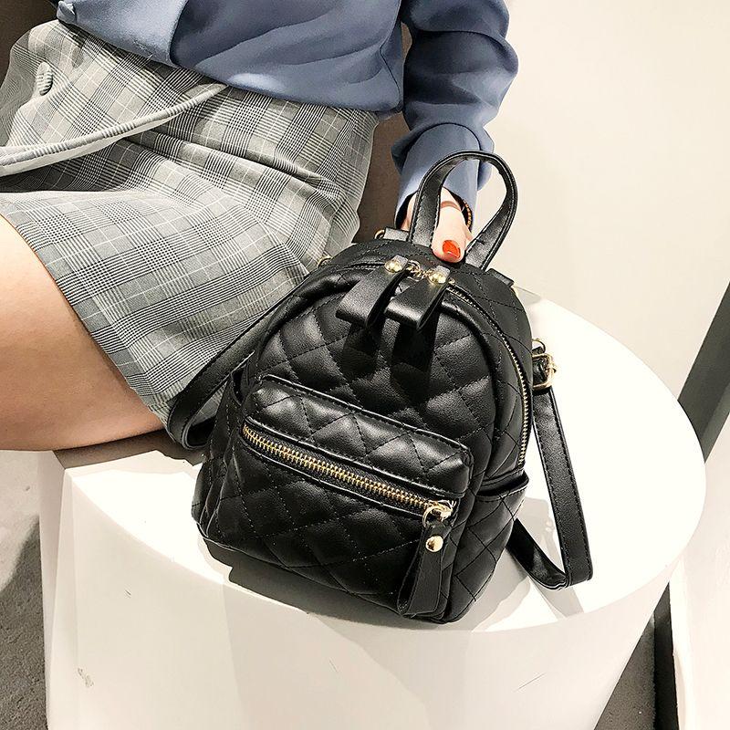 dde658e0cc School Backpacks Style 2019 Pu Leather Women Backpack Designers Brand For  Teenage Girl High Quality Travel Rucksack Shoulder Bag Mochilas Jansport  School ...