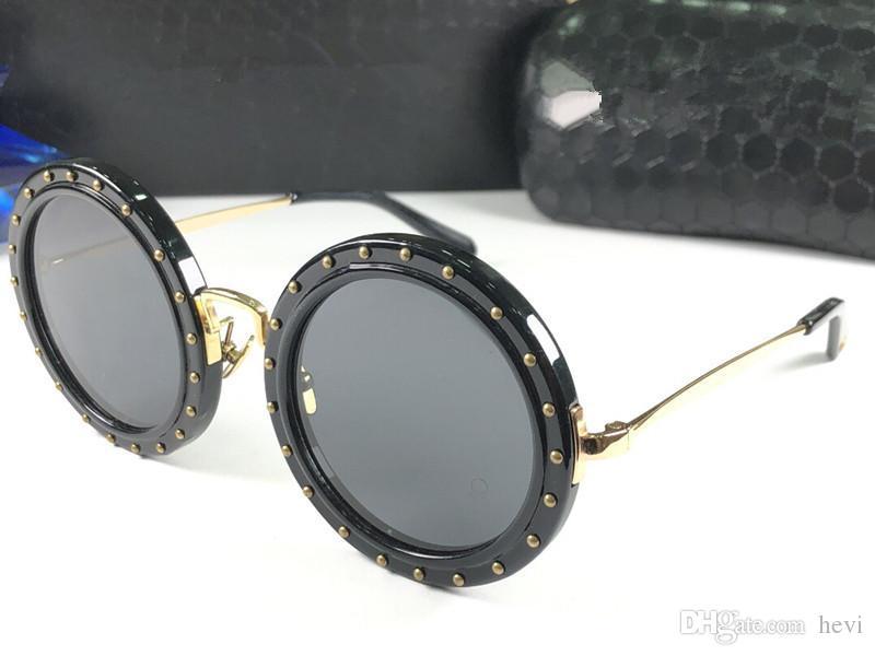 7b274c54d9e Best Seller Style Designer Round Sunglasses 0047 Circle Frame Simple Trend  Retro Fashion Luxury Brand Glasses Anti UV400 Eyewear With Case  Prescription ...