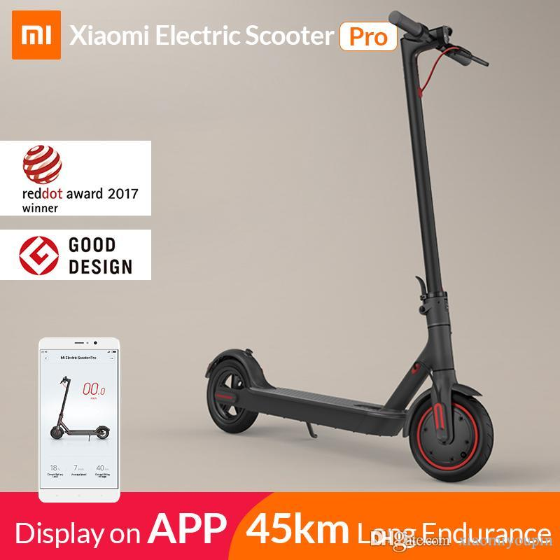 Hot Xiaomi Mi Electric Scooter Mijia M365 Pro Smart E Scooter Skateboard Mini Foldable Hoverboard Longboard Adult 45km Battery