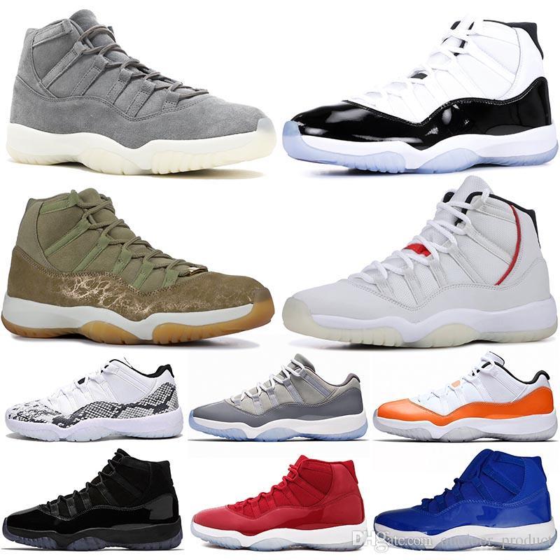 Cestas 11s Piel Platino Zapatos Air Tinte Jordan Nike Olive Serpiente Retro Grey Zapatillas Hombre 11 Xi Concord Suede Para De Baloncesto f6yb7gY