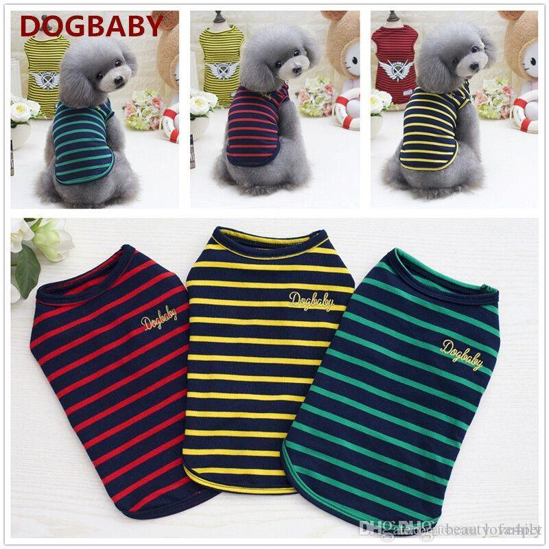 F43d dog summer cotton vest puppy cotton vest pet cool thin summer T-shirt small pets summer clothes