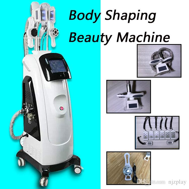 6 IN 1 multifunction cryolipolysis fat freezing slimming machine weight loss wrinkle removal machine 40K cavitation 8 lipo laser pads