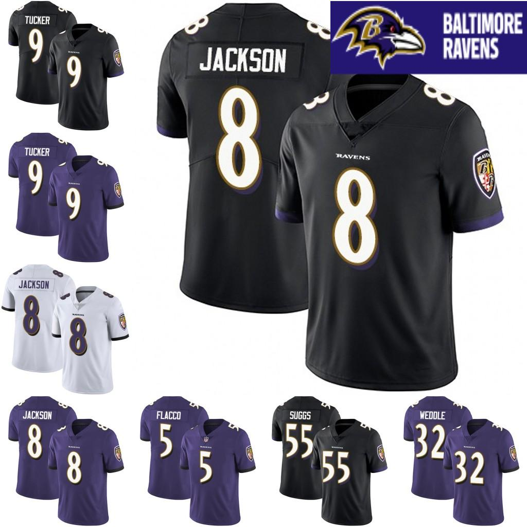 quality design 2b8d5 e1976 Baltimore Jerseys 8 Lamar Jackson 81 Hayden Hurst 5 Joe Flacco 32 Eric  Weddle 55 Terrell Suggs 18 Breshad Perriman Ravens Jersey 01