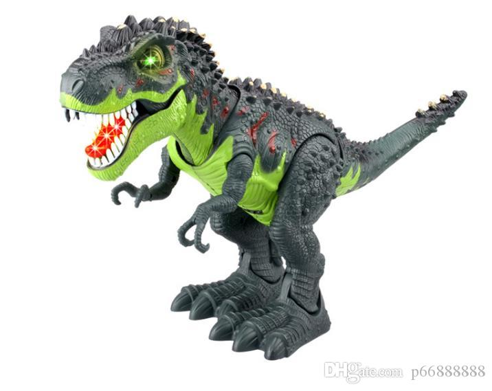 Simulated Electric Dinosaur Model Toy Tyrannosaurus Jurassic Dinosaur Model Walking Toy for Tyrannosaurus Children