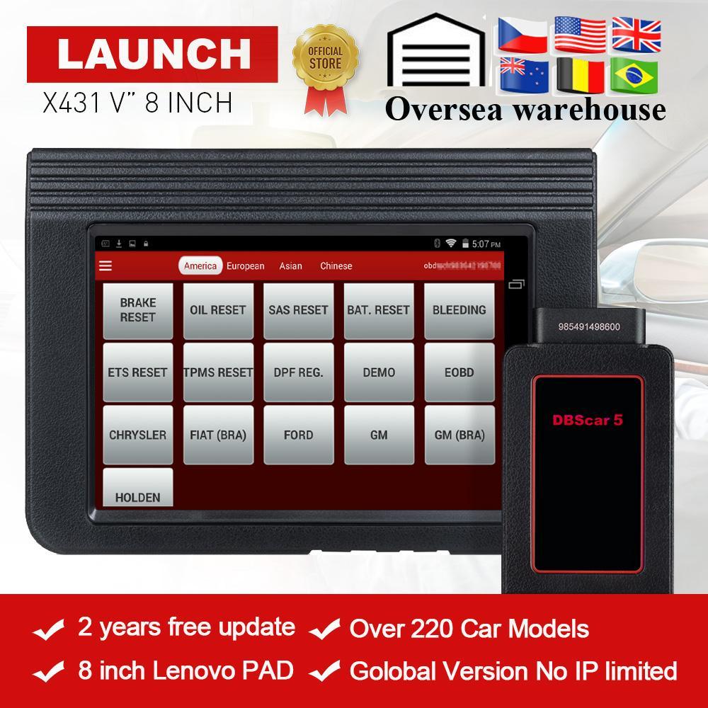 2019 LAUNCH X431 V 8'Inch Global Version Full System