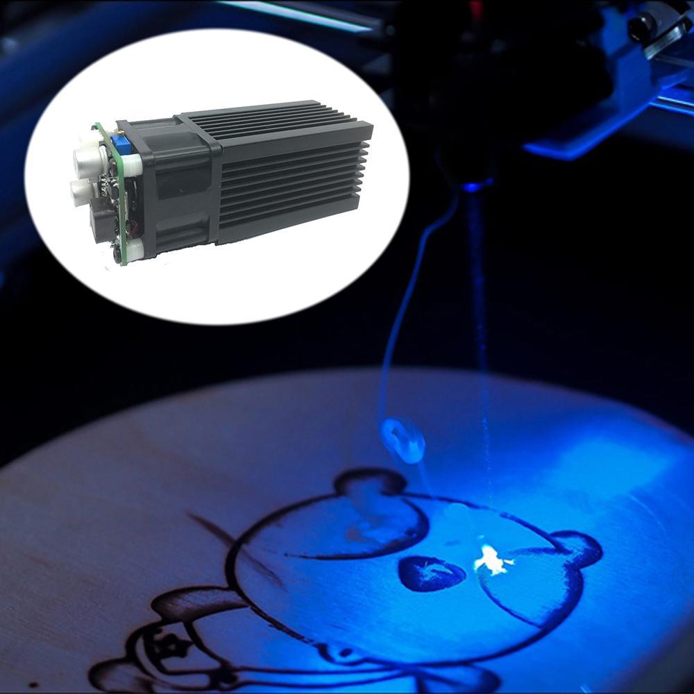 5500mW 445-450nm Blue Light Laser Module DIY Micro Laser Engraving Module for CNC Laser Carving Engraving Machine Accessory