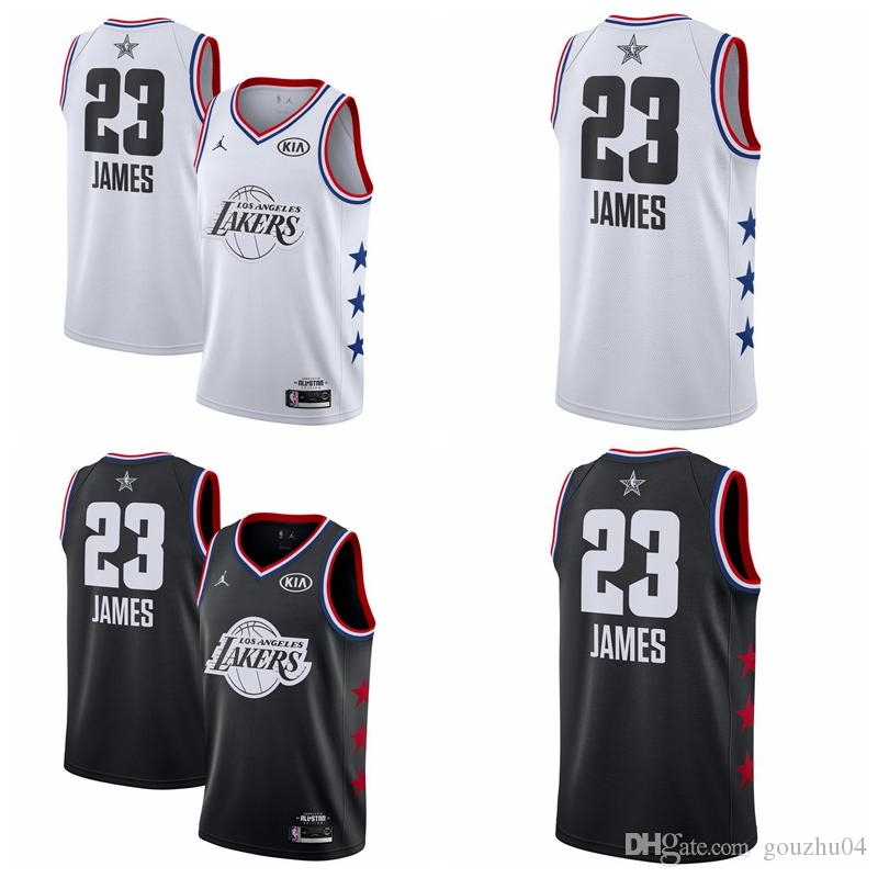low priced 50af5 b1792 All 2019 star 23 LeBron James Laker Jersey The City Los Angeles James 23  Basketball Jersey NEW
