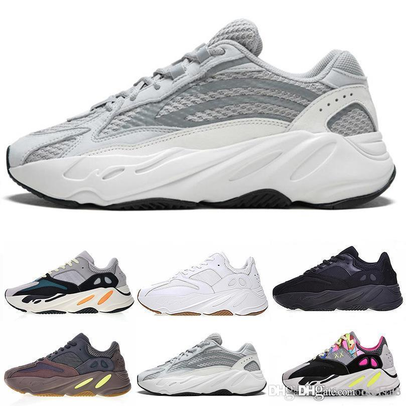 Original 700 Kanye West Running Shoes For Men Women Wave Runner 700 Static White Black Athletic Real quality 700s Designer Sports Sneakers