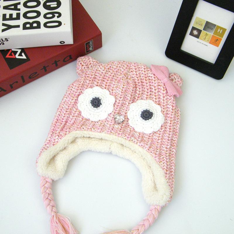 ff4250c5fbb 2019 Baby Winter Crochet Hats Cap Girls Kids Cute Knit Crochet Warm Hats  Cotton Ear Guard Cap Baby Soft Thick Hat Photo Props From Pshava