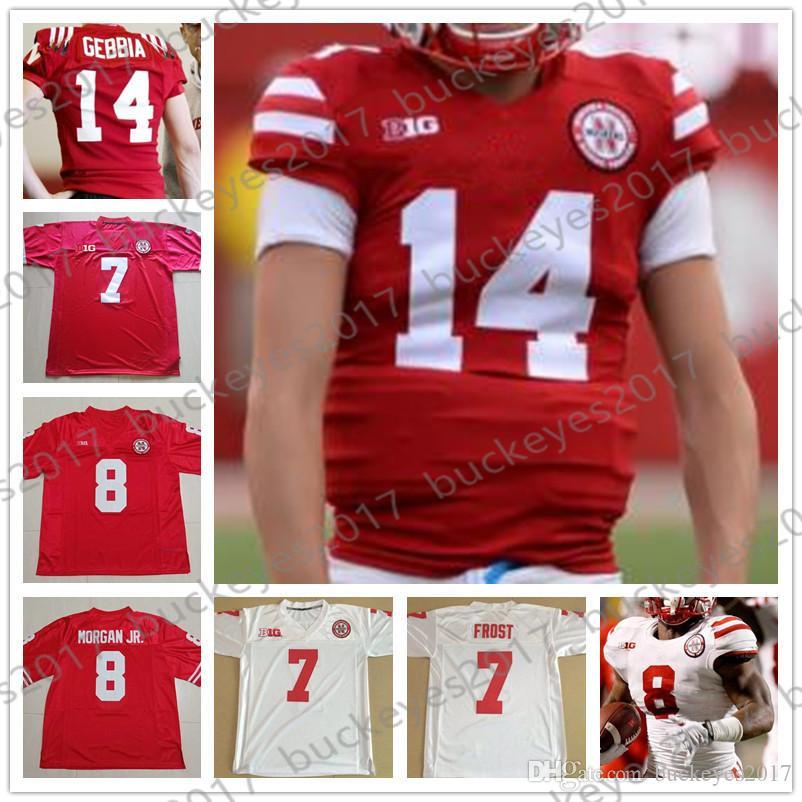 best sneakers fe147 ccdca NCAA Nebraska Cornhuskers #13 Tanner Lee 14 Tristan Gebbia 18 Tre Bryant 21  Mikale Wilbon 22 Devine Ozigbo Red White College Football Jersey