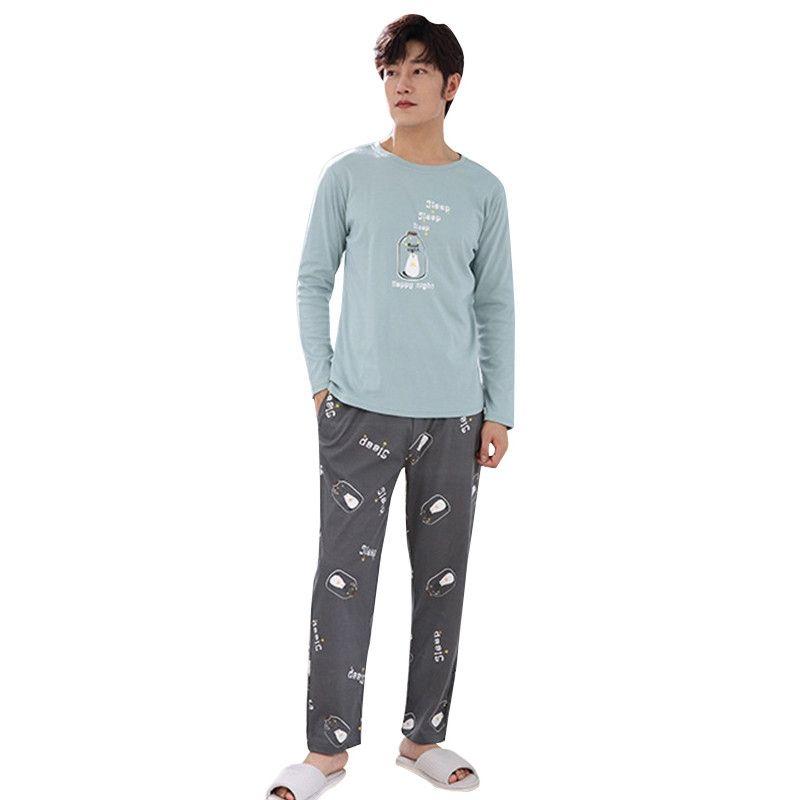 a098cf7069253 Acheter Nouveau Automne Hiver Pyjama Hommes À Manches Longues Hommes  Vêtements De Nuit Casual Plus La Taille Lounge Pyjama Ensembles Pyjama Homme  De $33.96 ...