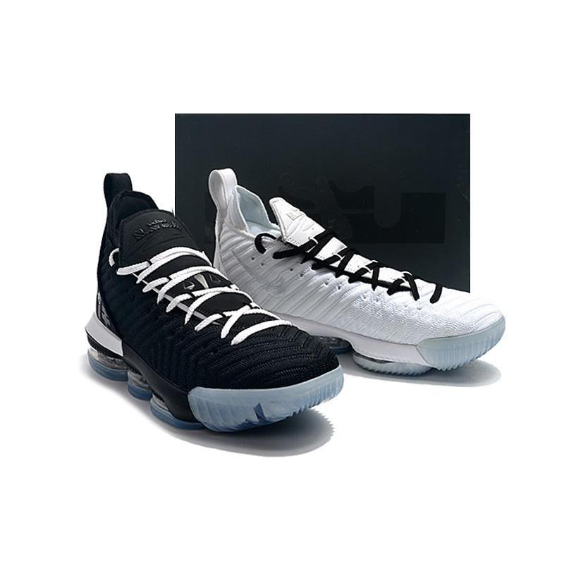the best attitude 817d8 6a2c9 Cheap womens lebron 16 basketball shoes black white equality bhm oreo Grey  Multi MVP Boys Girls Youth Kids lebrons sneakers tennis with box