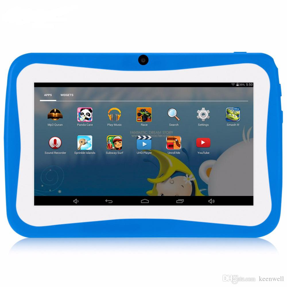 7 inch Kids Tablet PC Quad Core 512MB 8GB Android4 4 Wi-Fi Tablet Baby  Games Designed for Children with Gift Box