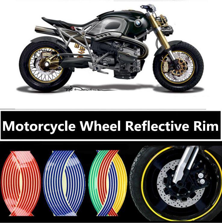 16 Strips Set Diy Reflective Tape Car Motorcycle Rim Stripe Wheel Decal Stickers Car Rim Tape Sticker Motorcycle Decoration