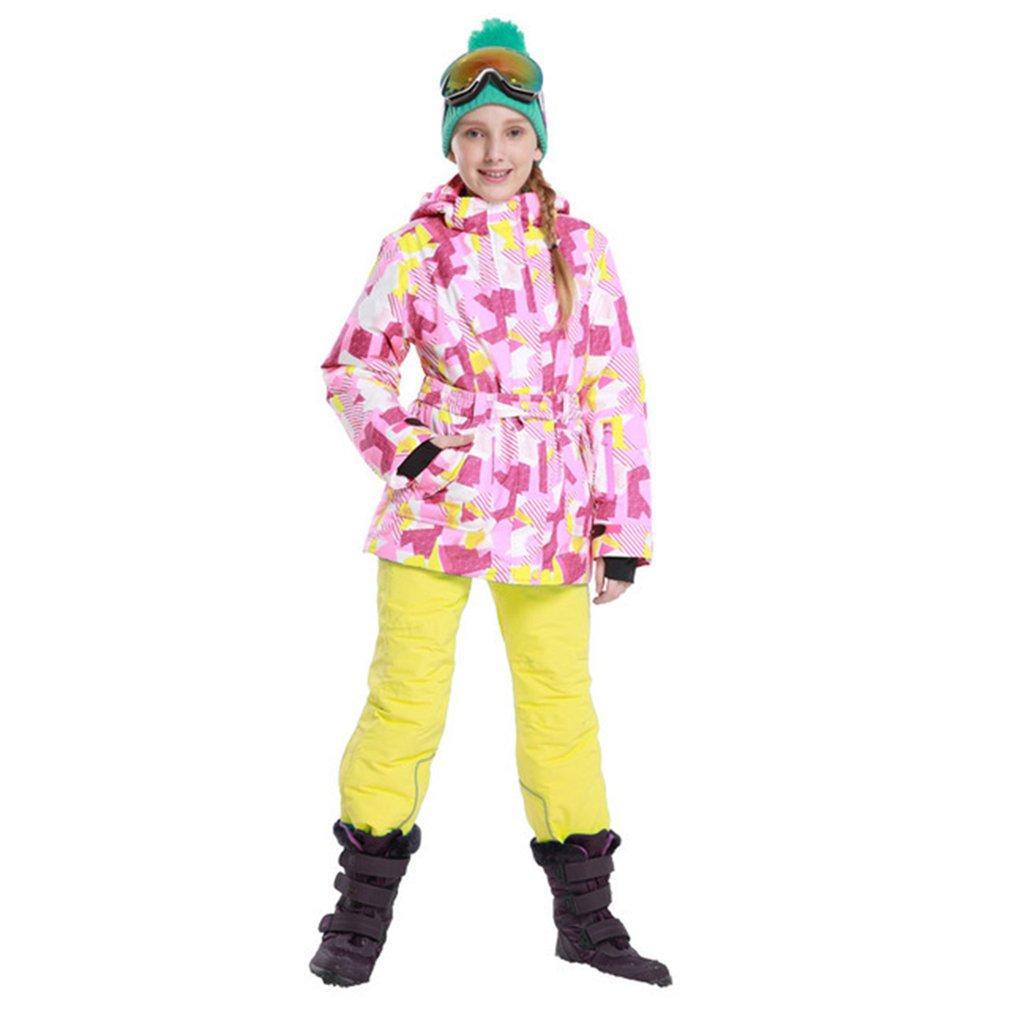 Phibee Boys Girls Ski Suit Waterproof Pants+Jacket Set Winter Sports ... 6c7f409ee