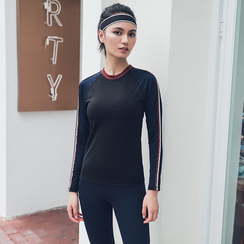 7907e4edf28 Amazon New Yoga Clothing Europe And the United States Long-sleeved ...
