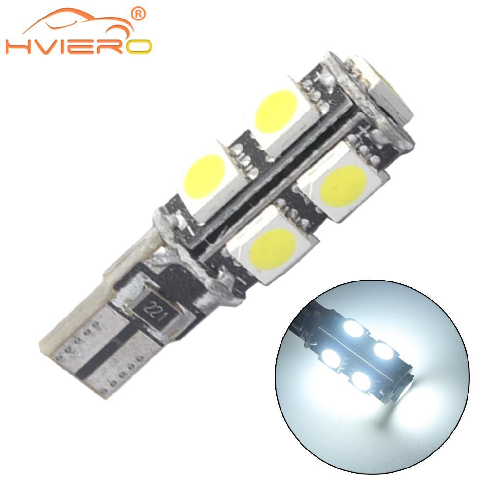 Bianco T10 9smd 5050 Canbus DC 12V Error Free 194 168 192 W5W Car LED Fanale posteriore Lampadine interne Wedge Parking Led Dashboard Lamp