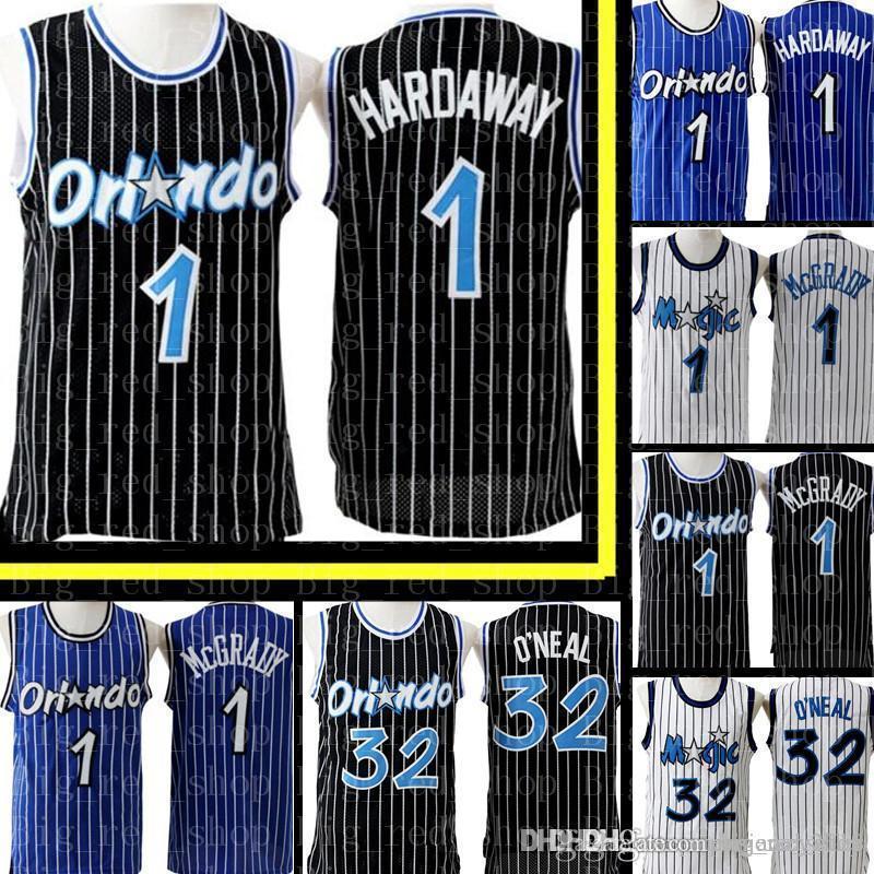 cheap for discount 95b60 6bc40 Anfernee 1 hardaway Orlando Penny # Hardaway Jersey Retro Mesh Tracy 1  McGrady Shaquille 32 O'neal Basketball Jerseys Embroidery Logos