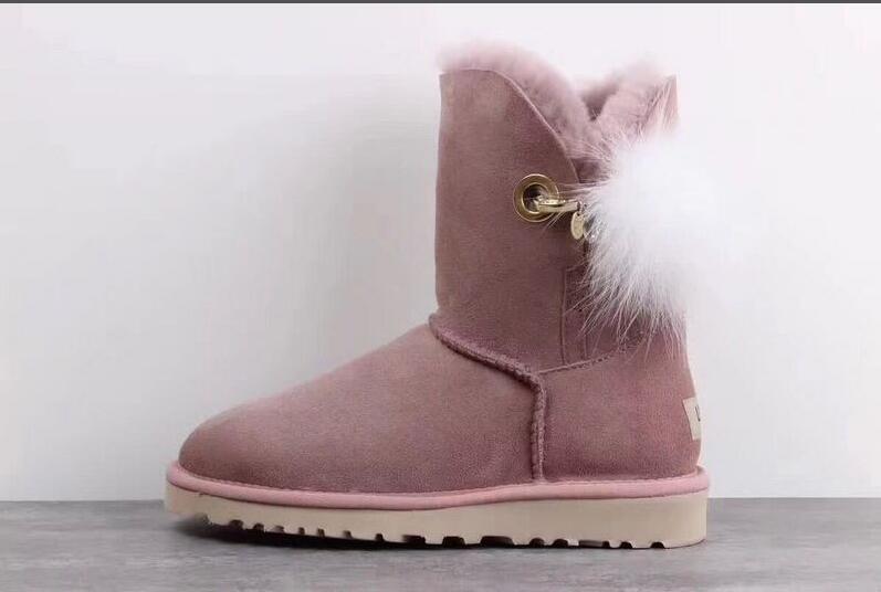 calidad estable gran descuento diseño elegante Botas de invierno impermeables para la nieve WGG Gris Café Botas para la  rodilla azul marino Negro Rojo clásico damas cálidas mini botas Zapatos de  ...