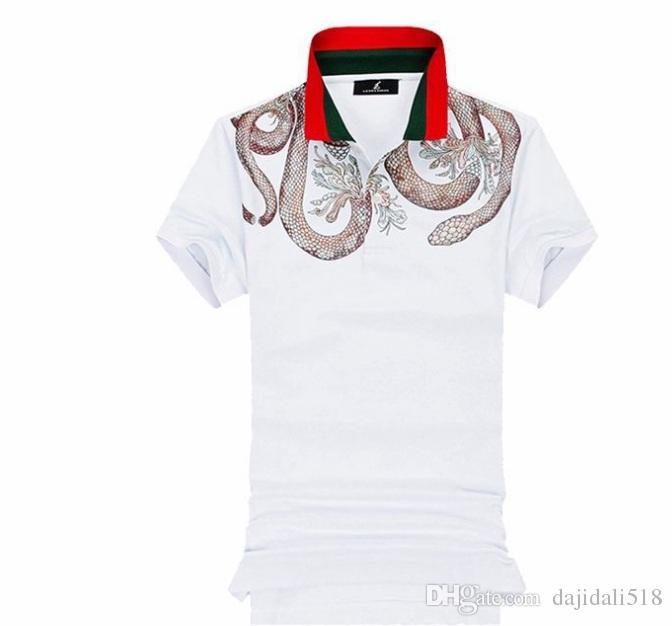 ce04a4ca 2019 summer men's polo shirt men's short sleeve lapel slim business cotton  golf casual sports T-shirt new style
