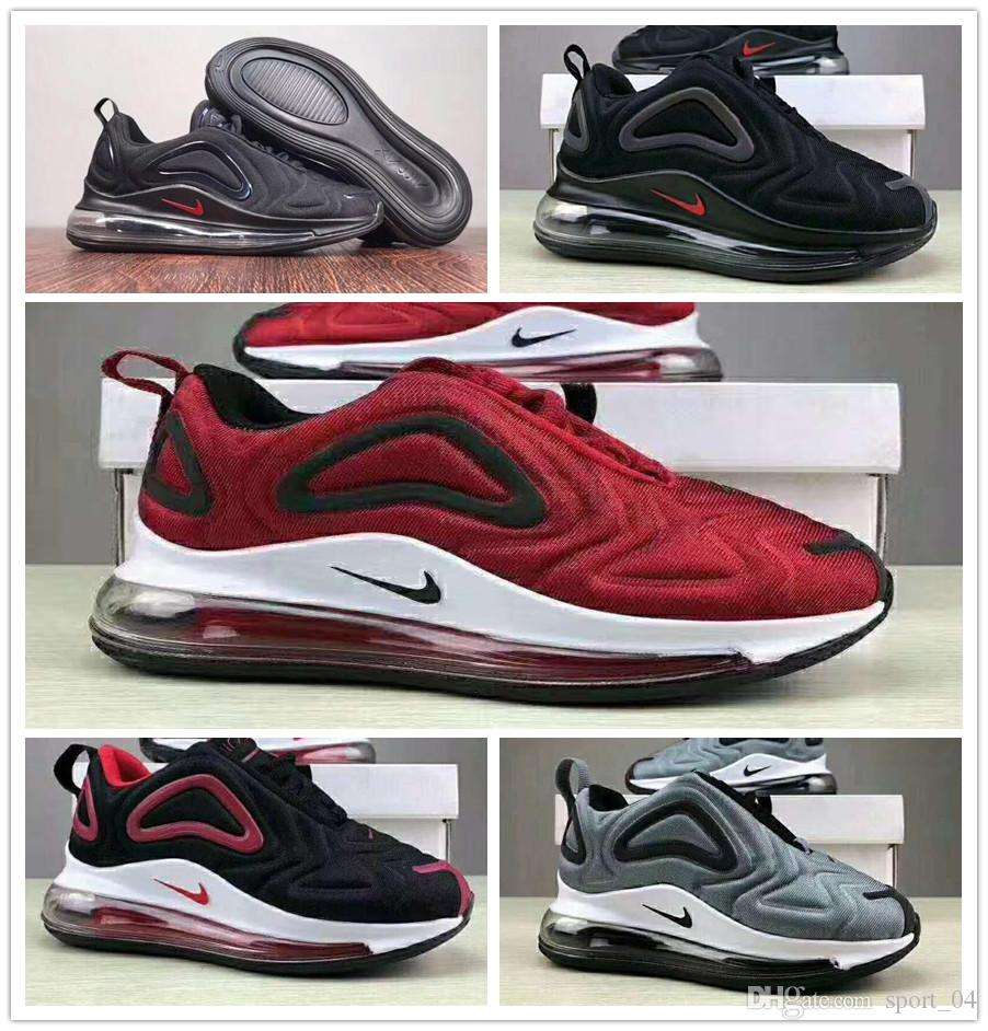 100% authentic bedca 1dba2 Nike Air max 72 youth Running Shoes kid Sneakers max 72c 720s run Sports  shoes size 28-35 720 atmospheric cushion cushioning