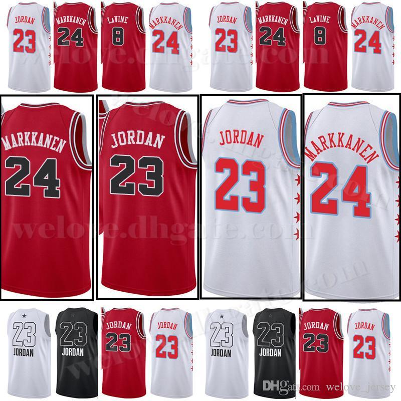 8f4b96aa109b 2019 23 Michael MJ 2019 New Chicago 24 Markkanen Jersey Lauri Bulls Zach 8  LaVine Lauri Wendell 34 Carter Jr. Basketball Jerseys From Welove jersey