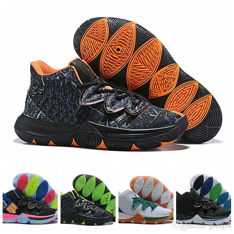 superior quality 894b7 bfc81 Großhandel 2019 New Kyrie Black Magic V 5 Herren Basketball Schuhe Irving  5S Zoom Sporttraining Sneakers Hohe Knöchelgröße 40 46 Von Goesyes,  91.75  Auf De.
