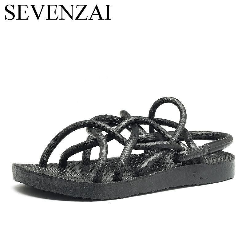 11c9b99736f0 Designer Rope Men Sandals Shoes Summer Fashion Beach Outdoor Male Footwear  Cool Unique Comfortable Cool Ballet Flats Tall Gladiator Sandals Tan Wedges  From ...