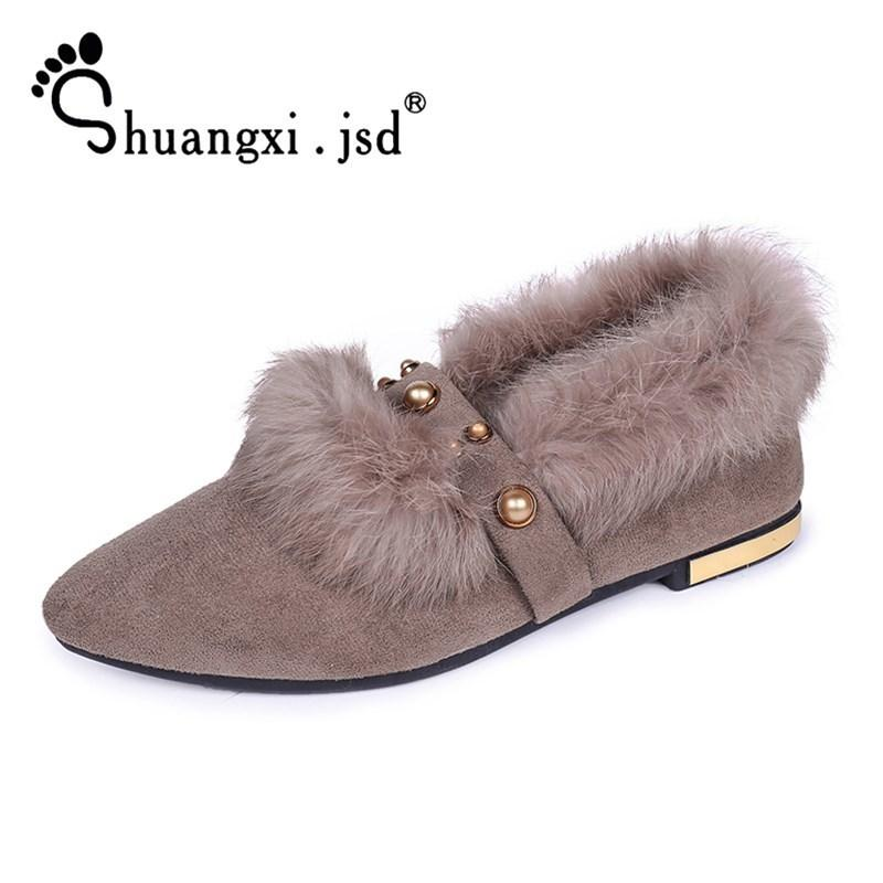 f6643e1eaa29 Designer Dress Shoes Shuangxi.Jsd Luxury Designer Women Pumps 2019 Winter  Wild Black Plush Work High Quality Woman Shoe Zapatos Mujer Casual Shoes  For Men ...