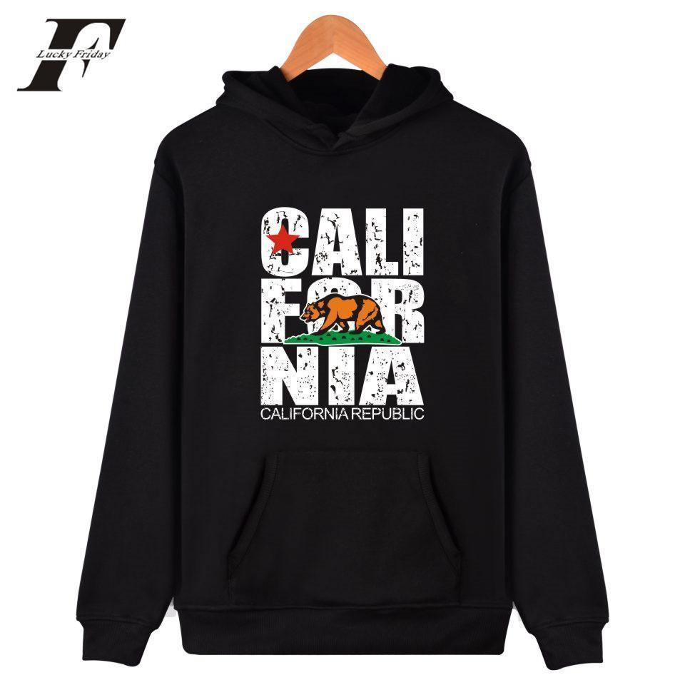 Compre California Hooded Hoodies Men Sudadera Moda De Invierno EE. UU.  California Flag Hoodies Men Plus Size 4XL Vestimenta Informal A  11.39 Del  Derrick83 ... dfad248d988